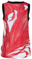 Prabal Gurung Silk Fil Coupé Tank in Vermilion