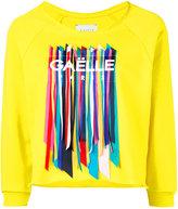 Gaelle Bonheur - ribbon detail sweatshirt - women - Cotton - 3