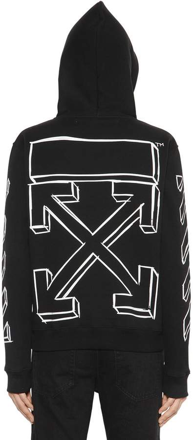 Off-White Oversize Marker Arrows Sweatshirt Hoodie