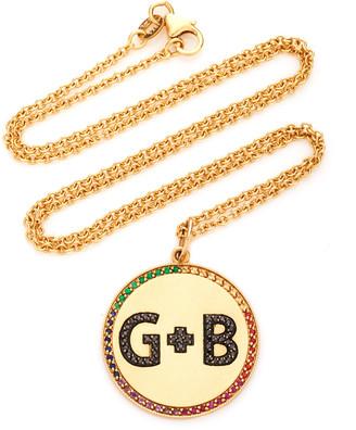 Andrea Fohrman 14K Yellow Gold Custom Two Letter Initials Pendant