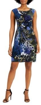 Connected Petite Cap-Sleeve Sheath Dress