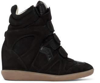 Isabel Marant Black Bekett Wedge Sneakers