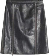 Steffen Schraut Faux Leather Skirt with Zippers