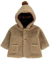 Babe & Tess Pompom Faux Fur Coat