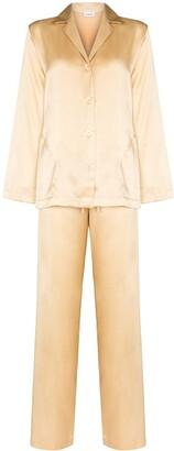 La Perla Button-Up Silk Pyjama Set