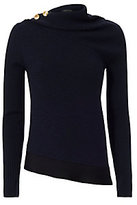 Rag & Bone Reanna Gold Button Asymmetric Sweater