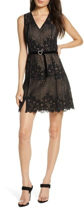 Foxiedox Asha Embroidered Lace A-Line Dress