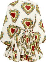 Rhode Resort Ella Tie-Waist Cotton Mini Dress