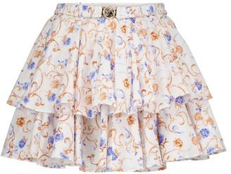 Caroline Constas Reign floral cotton-blend miniskirt