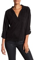 Line & Dot Adele Poet Split Neck Shirt