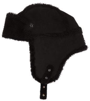 Maison Michel Bibiana Shearling Trapper Hat - Womens - Black