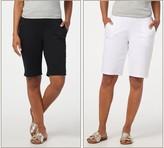 Denim & Co. Twill Set of 2 Pull-On Shorts