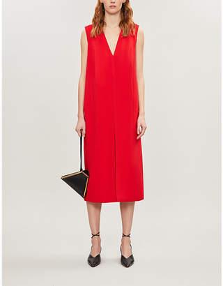 Victoria Beckham Sleeveless V-neck crepe midi dress