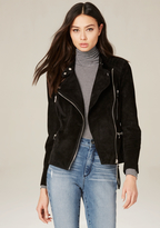 Bebe Quilted Suede Moto Jacket