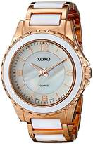 XOXO Women's XO5300 Rose Gold-Tone and White Bracelet Watch