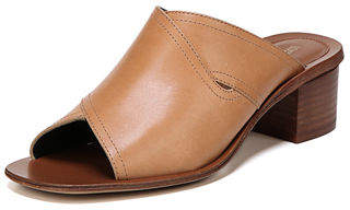 Diane von Furstenberg Hazel Leather Block-Heel Slide Sandal