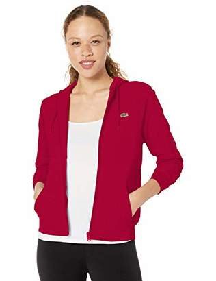 Lacoste Women's Sport Long Sleeve Hooded Fleece Pocket Sweatshirt