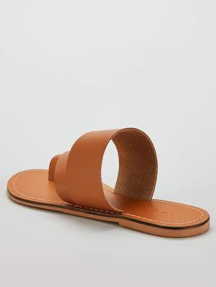 Very Helga leather toe post aysmetric sandal