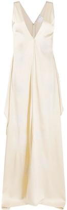 Stella McCartney Annabelle plunge-neck satin dress