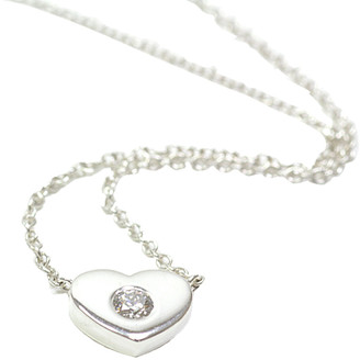Tiffany & Co. Paloma Picasso Modern Heart Diamond Pendant Sterling Silver Necklace