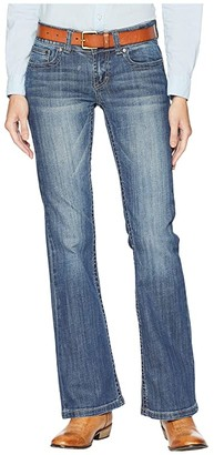 Stetson Box Stitch Embroidery Back Pocket (Blue) Women's Jeans
