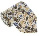 Missoni U1444 Cream/olive Floral 100% Silk Tie.