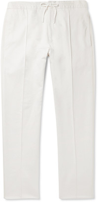 Ermenegildo Zegna Tapered Cotton-Drill Drawstring Trousers