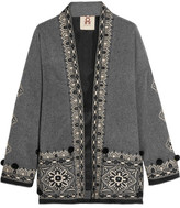 Figue Haveli Embellished Wool And Cashmere-blend Jacket - Gray