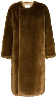 Hyke faux fur reversible coat
