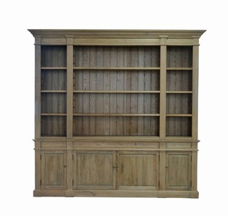 S & G Imports Dundas Bookcase Weathered Oak