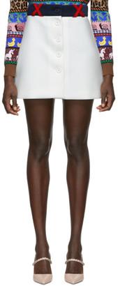 Miu Miu White Techno Button Miniskirt