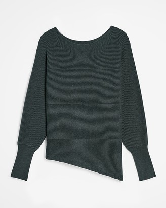 Express Ribbed Asymmetrical Tunic Sweater