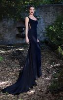 Tarik Ediz Embroidered Back Gown 92605