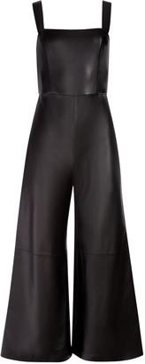 Alice + Olivia Avelina Vegan Leather Jumpsuit