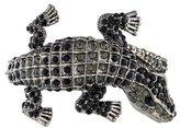 Kenneth Jay Lane Crystal Alligator Hinged Bracelet