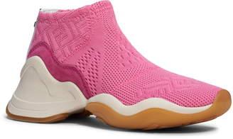 Fendi Technice Knit Mid Top Sneaker