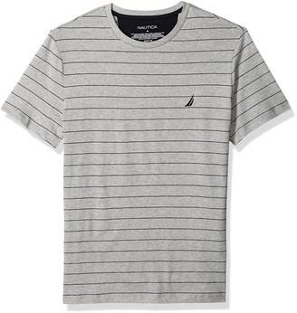 Nautica Men's Short Sleeve Striped Crew Neck T-Shirt
