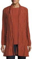 Rumpled Organic Cotton-Blend Jacket, Plus Size
