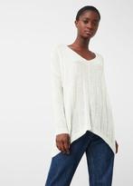 MANGO Square Textured Sweater