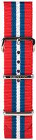 Briston 20mm Striped Nylon Watch Strap, Red/Blue/White