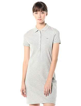 Lacoste Women's Stretch Cotton Short Sleeve Mini Piqué Polo Dress