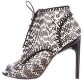 Jason Wu Snakeskin Lace-Up Booties
