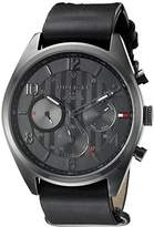 Tommy Hilfiger Men's 1791189 Casual Sport Analog Display Quartz Black Watch
