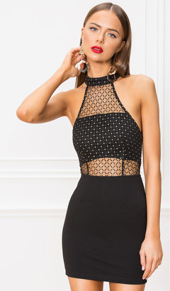 superdown Arin Mesh Mini Dress
