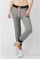 Select Fashion Fashion Womens Grey Airtex Side Crop Jogger - size 6