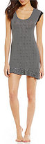 Betsey Johnson Lace-Trimmed Dotted Sleepshirt