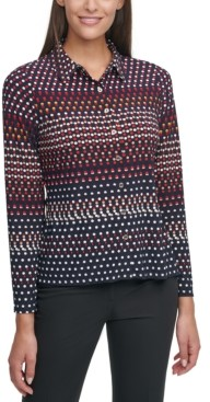 Tommy Hilfiger Dot-Striped Shirt