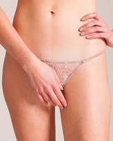 Carine Gilson Roses Lace and Silk Panty