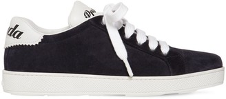 Prada 10mm One Suede & Leather Logo Sneakers