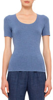 Akris Punto Short-Sleeve Scoop-Neck T-Shirt